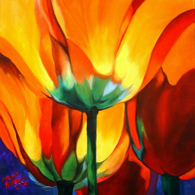 Art: Abstract Poppies by Artist Marcia Baldwin