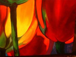 Detail Image for art Abstract Poppies