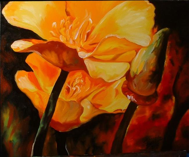 Art: Poppies O'Fire by Artist Marcia Baldwin