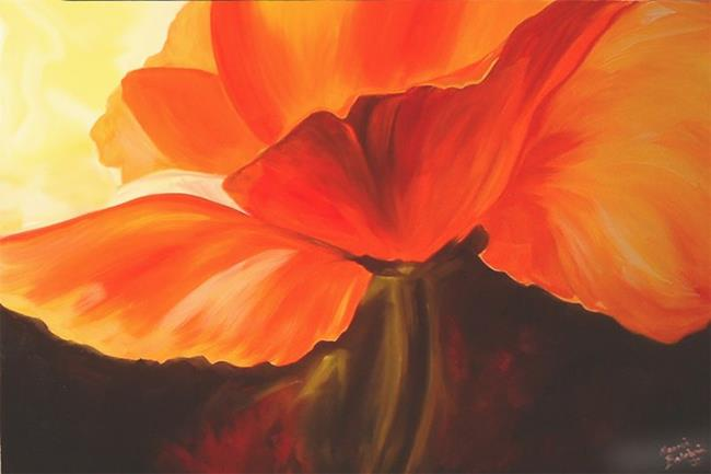 Poppy Paintings - Abstract Poppy