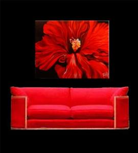Detail Image for art The Red Hibiscus