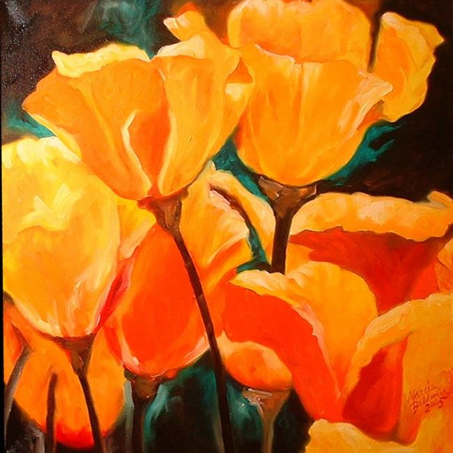 Art: California Poppy Field by Artist Marcia Baldwin