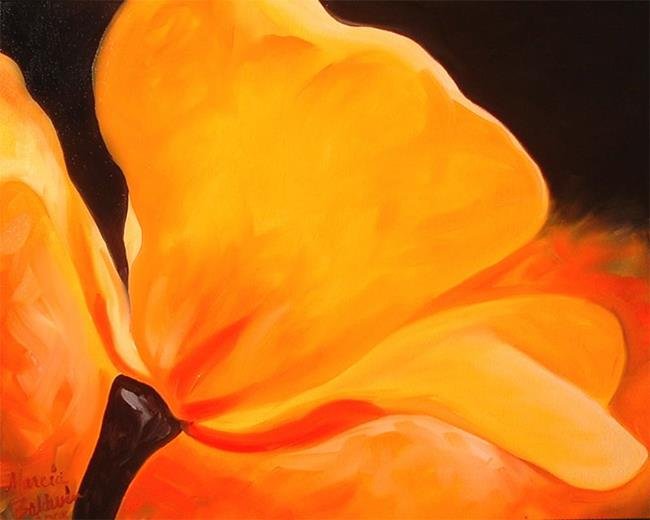 Art: Yellow Poppy Abstract by Artist Marcia Baldwin