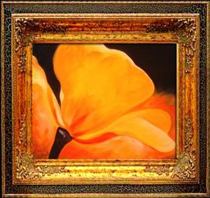 Detail Image for art Yellow Poppy Abstract
