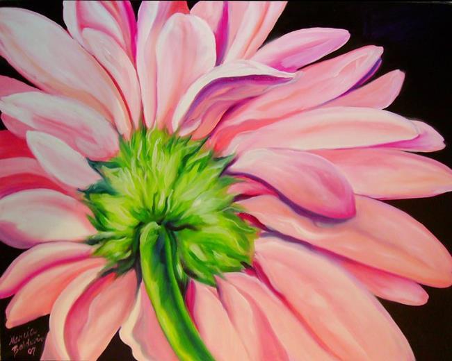 Art: Pink Gerbera Daisy by Artist Marcia Baldwin