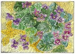 Art: Violet by Artist Theodora Demetriades