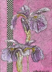 Art: PURPLE IRIS by Artist Theodora Demetriades