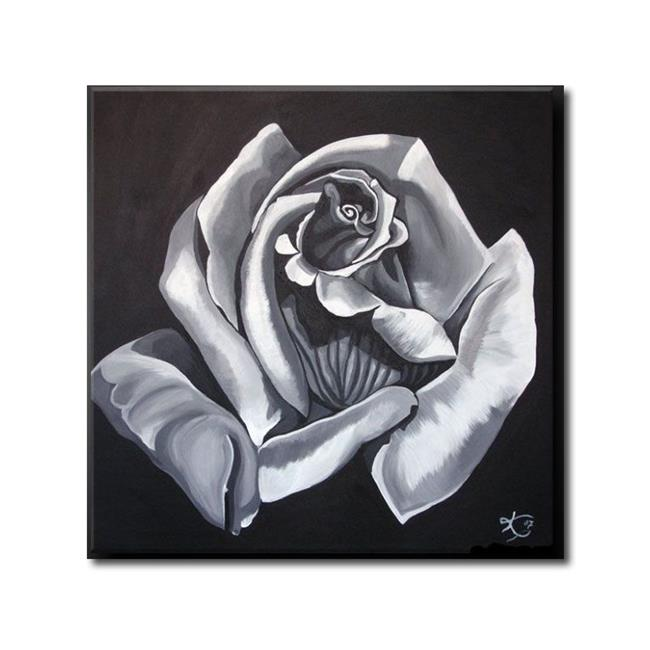 Art: BLACK ROSE by Artist Kate Challinor