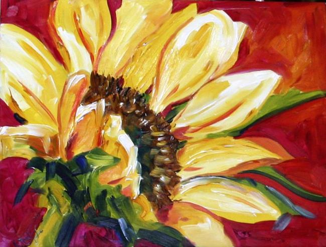 Art: November Leftovers Sunflower by Artist Laurie Justus Pace