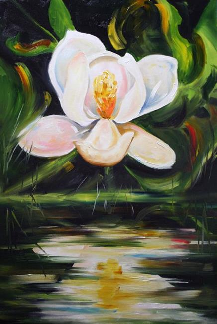 Art: Magnolia Reflection by Artist Laurie Justus Pace