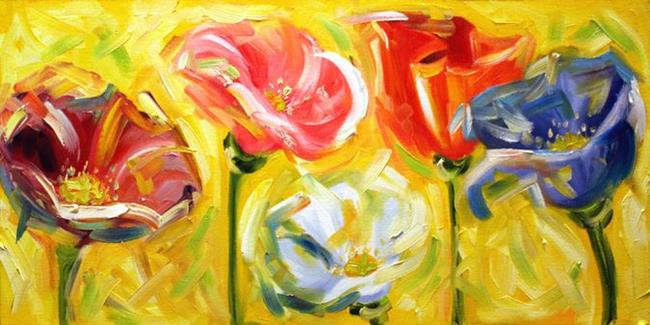 Art: poppin poppies by Artist Laurie Justus Pace