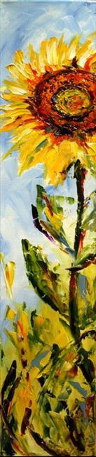 Art: roadside sunflower by Artist Laurie Justus Pace
