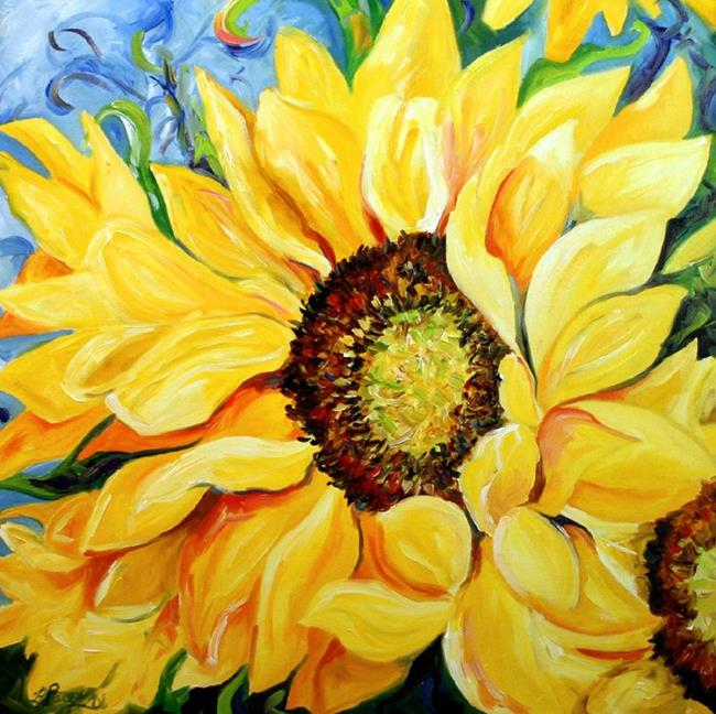 Art: HWY 156 Sunflower Study by Artist Laurie Justus Pace