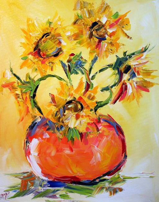 Art: orange vase by Artist Laurie Justus Pace