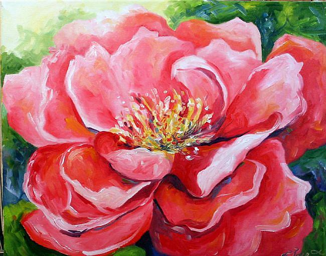 Art: pink peony five by Artist Laurie Justus Pace