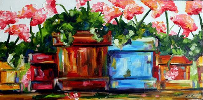 Art: Bobbie Jean's Pots Five by Artist Laurie Justus Pace