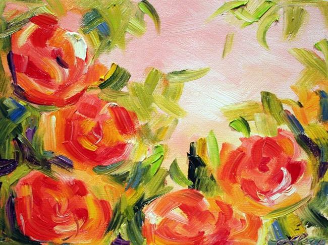 Art: Roses on the Vine by Artist Laurie Justus Pace