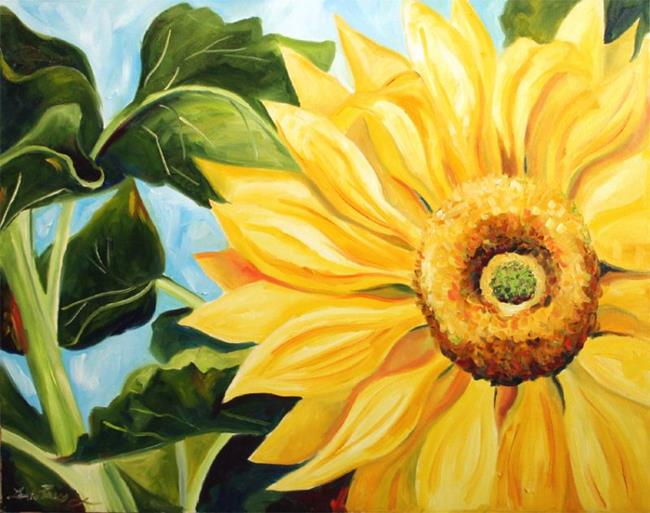Art: Sunflower Study Hwy 114 by Artist Laurie Justus Pace