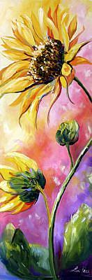 Art: Sunflower Study Creekhill Rd by Artist Laurie Justus Pace
