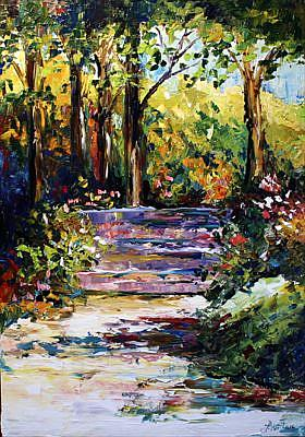Art: Steps at the Arboretum by Artist Laurie Justus Pace