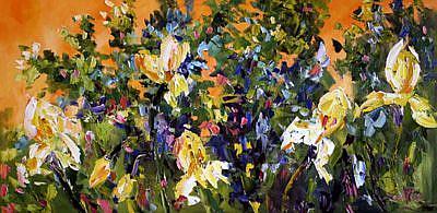 Art: Summer Garden by Artist Laurie Justus Pace