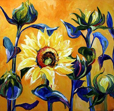 Art: Sunflower Blues by Artist Laurie Justus Pace