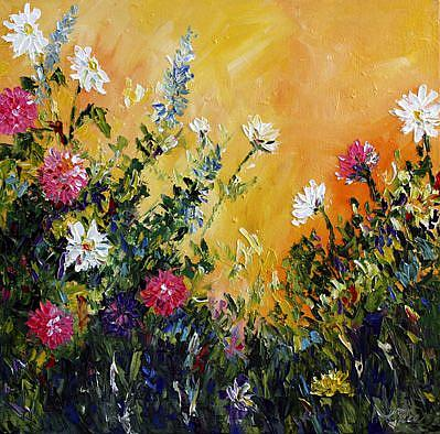Art: Overgrown Garden by Artist Laurie Justus Pace