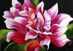 Art: Dahlia Late Summer by Artist Laurie Justus Pace