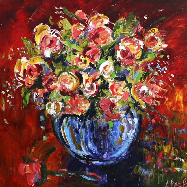 Art: Early Fall Roses by Artist Laurie Justus Pace