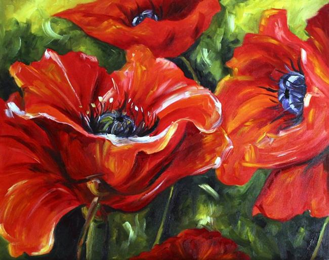 Art: Early Fall Poppies by Artist Laurie Justus Pace