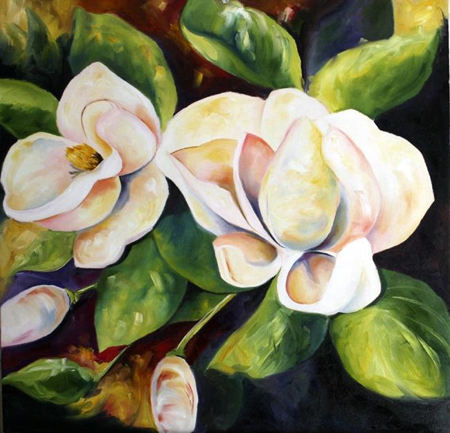 Art: Early Fall Magnolias by Artist Laurie Justus Pace