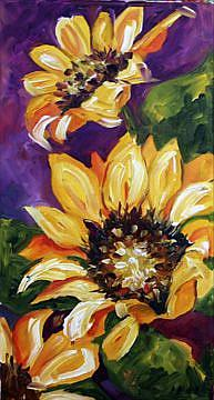 Art: Sunflowers Three by Artist Laurie Justus Pace