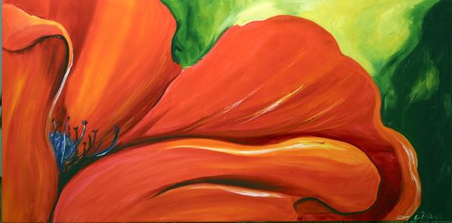 Art: Smooth Edge Poppy by Artist Laurie Justus Pace