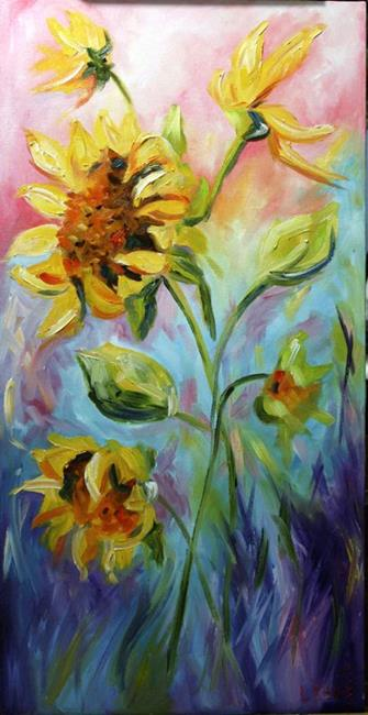 Art: Sunflower Sunrise by Artist Laurie Justus Pace