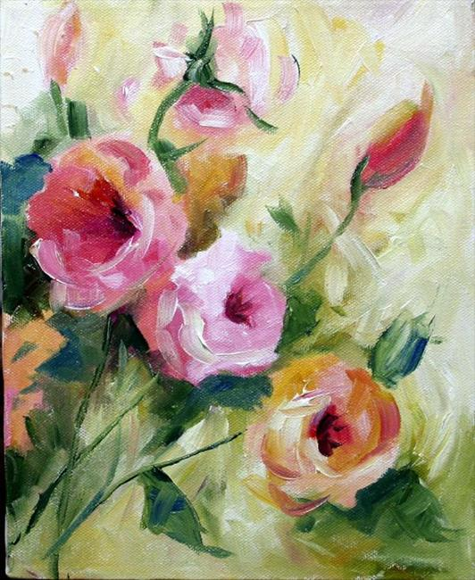 Art: Early Fall Miniature Roses by Artist Laurie Justus Pace