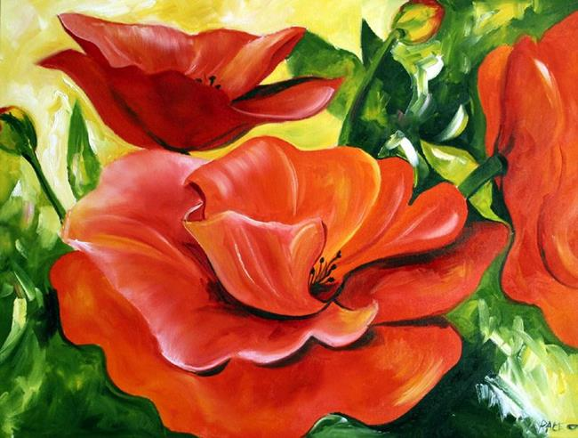 Art: Thanksgiving Poppies by Artist Laurie Justus Pace