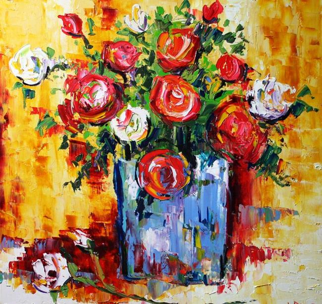Art: Rose Garden Blooms by Artist Laurie Justus Pace