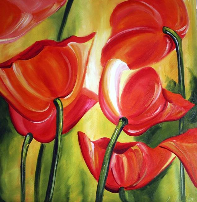 Art: Red Poppies Two by Artist Laurie Justus Pace