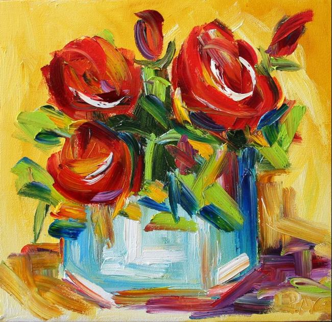 Art: Roses from a Friend by Artist Laurie Justus Pace