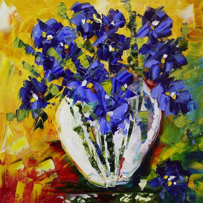 Art: Tiny Blue Iris Two by Artist Laurie Justus Pace