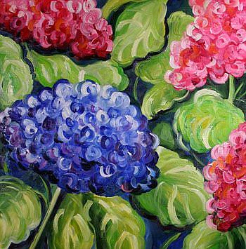 Art: Spring Hydrangea by Artist Laurie Justus Pace