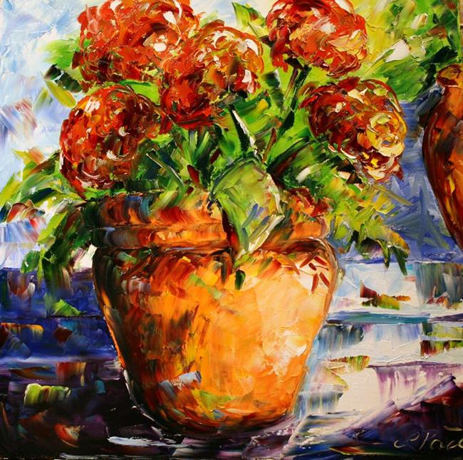 Art: Geranium Bloom by Artist Laurie Justus Pace