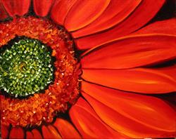 Art: Daisy Daisy Red by Artist Laurie Justus Pace