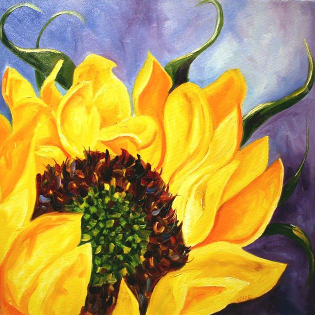 Art: Double Sunflower Two by Artist Laurie Justus Pace