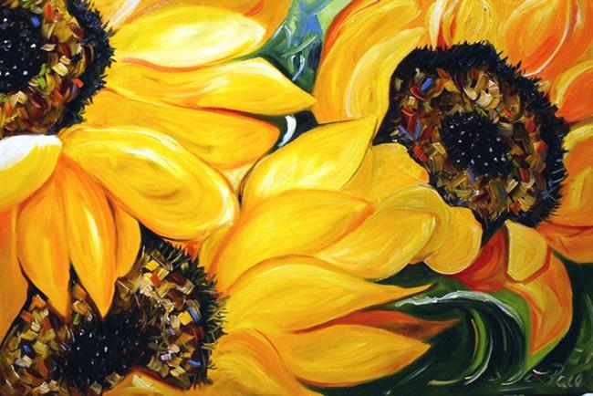 Art: A Sunflower Trio by Artist Laurie Justus Pace