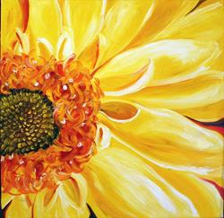 Art: Daisy Daisy Yellow by Artist Laurie Justus Pace
