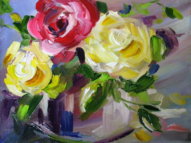 Art: Two Yellow One Red by Artist Laurie Justus Pace