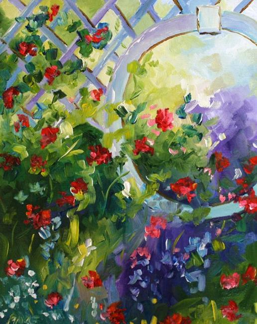Art: Climbing Roses by Artist Laurie Justus Pace