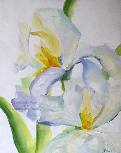 Art: White Iris by Artist Laurie Justus Pace