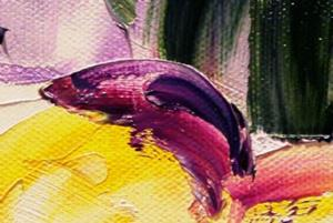 Detail Image for art Purple Flowers Fourth in the Series of Backyard Blooms